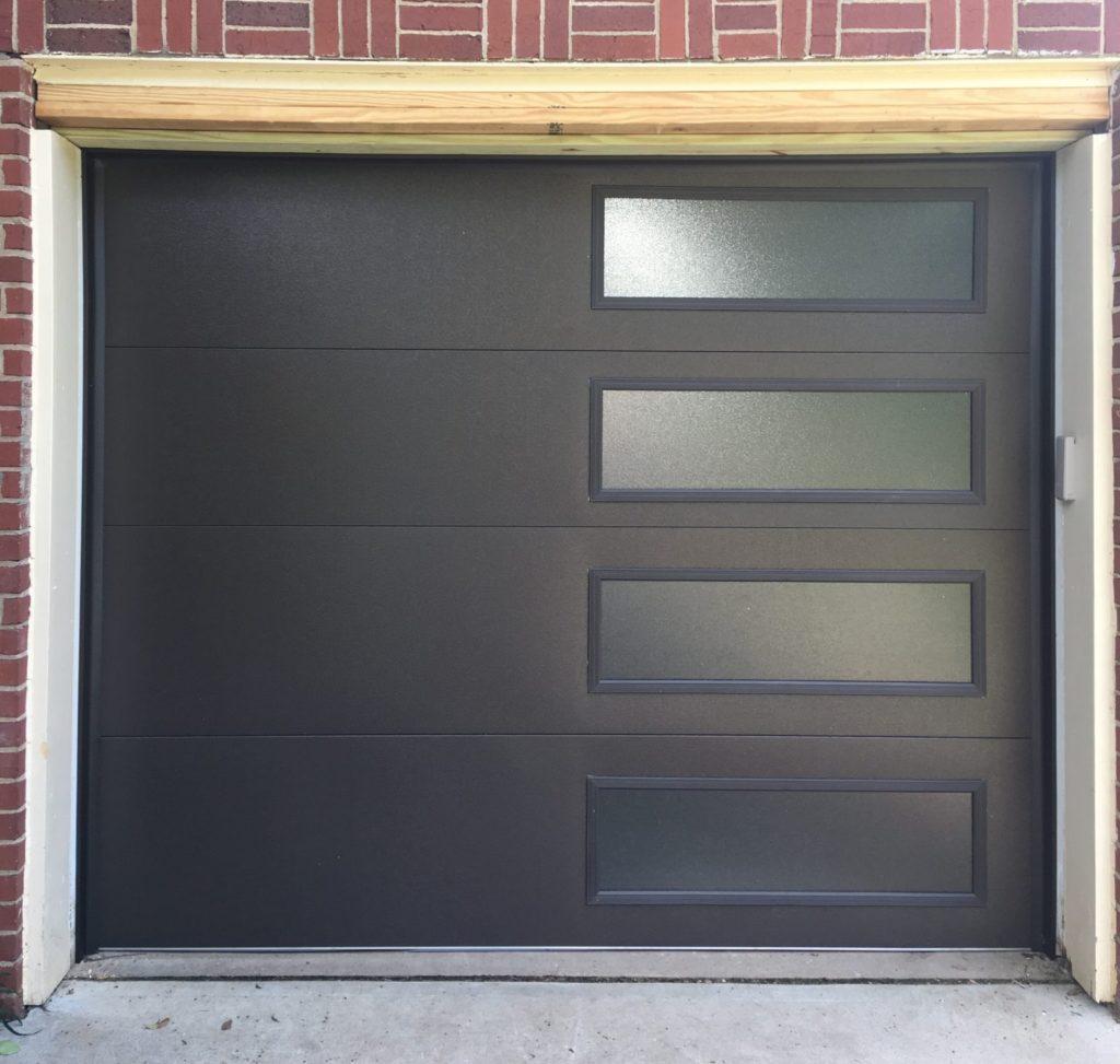 Contemporary Black Garage Door
