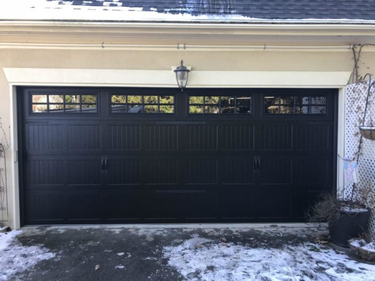 Black Carriage Stamp Garage Door