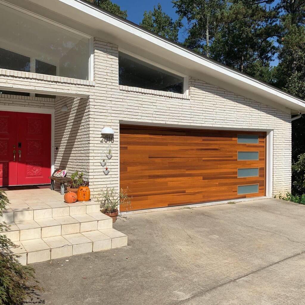 Midcentury Modern Plank Door Atlanta