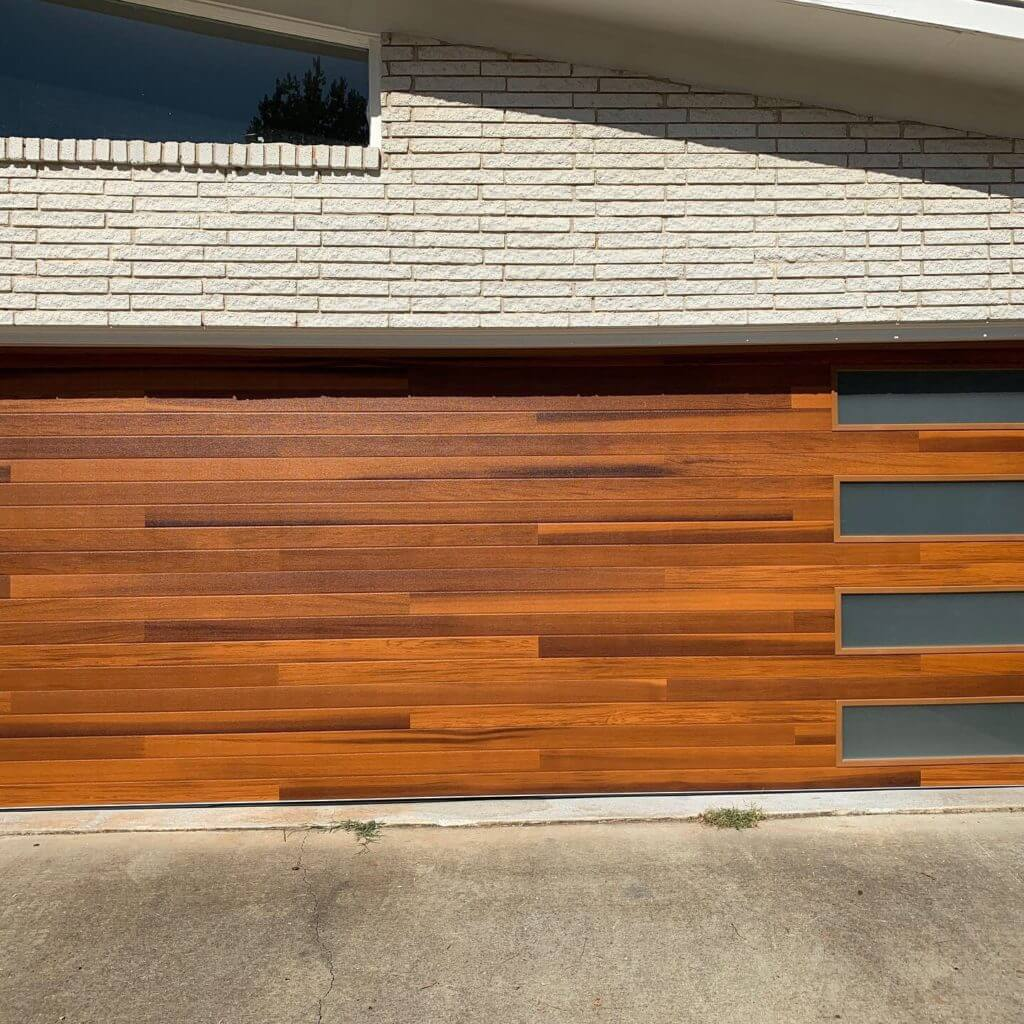 Steel Modern Plank Garage Door Atlanta