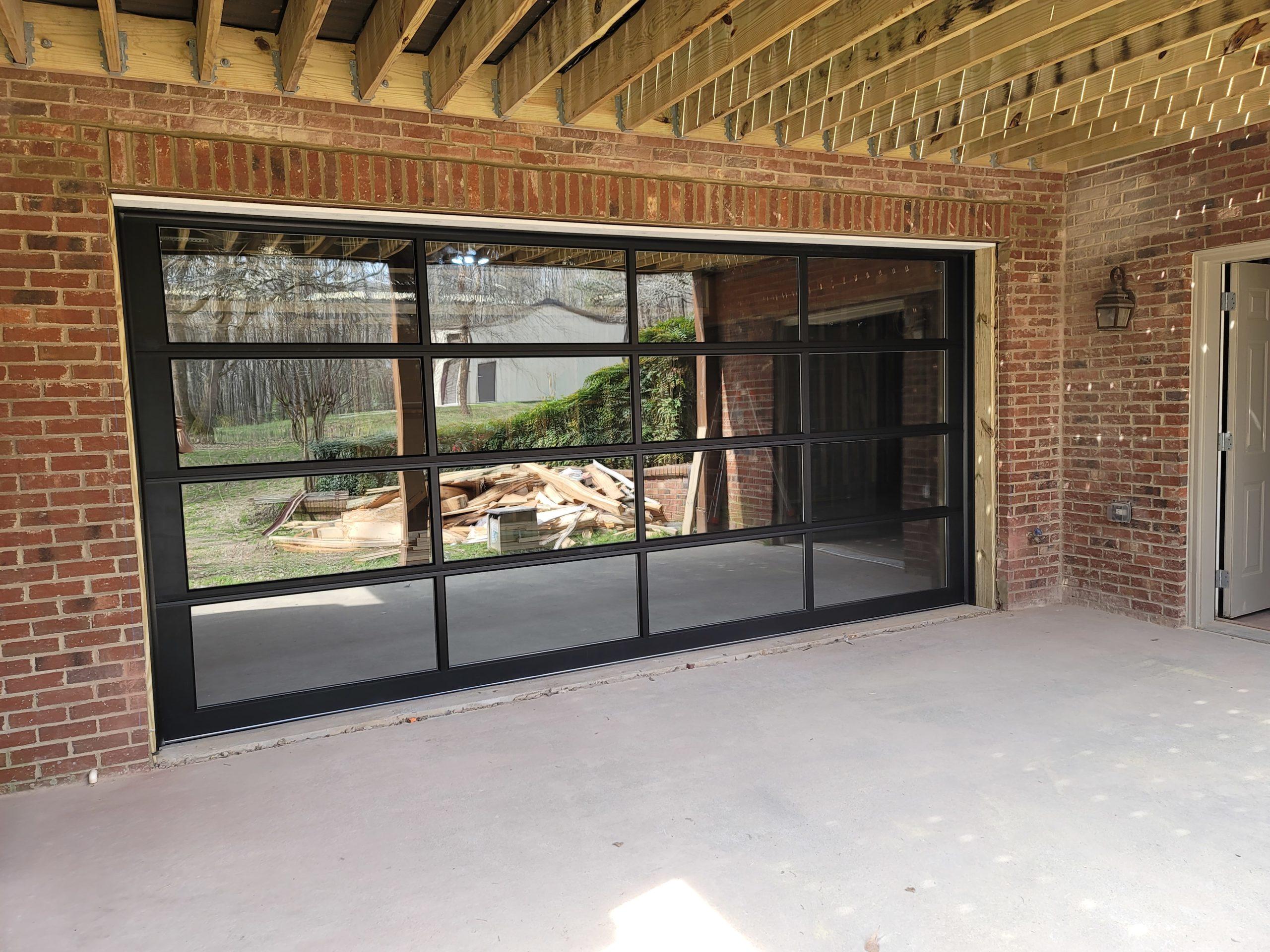 Basement Glass Garage Door Winder GA
